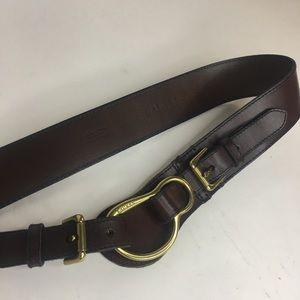 Ralph Lauren Belt Leather Equestrian Double Buckle